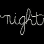 Toolbox Calendar- Metal Word Art- Night