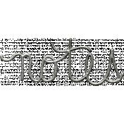 Toolbox Calendar- Metal Word Art- Notes