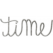 Toolbox Calendar- Metal Word Art- Time