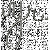 Toolbox Calendar- Metal Word Art- Year (Abbreviated)