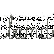 Toolbox Calendar- Metal Word Art- Band
