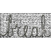 Toolbox Calendar- Metal Word Art- Break