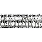 Toolbox Calendar- Metal Word Art- Drama