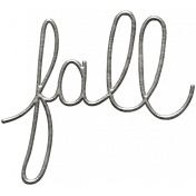 Toolbox Calendar- Metal Word Art- Fall