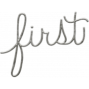 Toolbox Calendar- Metal Word Art- First