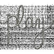 Toolbox Calendar- Metal Word Art- Play