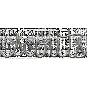 Toolbox Calendar- Metal Word Art- Scouts