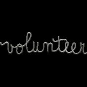 Toolbox Calendar- Metal Word Art- Volunteer