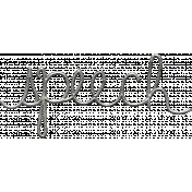 Toolbox Calendar- Metal Word Art- Speech