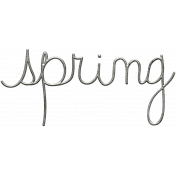 Toolbox Calendar- Metal Word Art- Spring