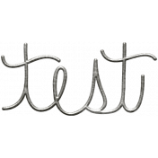 Toolbox Calendar- Metal Word Art- Test