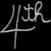 Toolbox Calendar- Metal Word Art- 4th