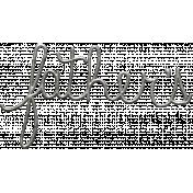 Toolbox Calendar- Metal Word Art- Father's