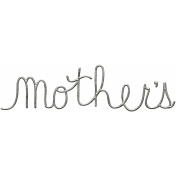 Toolbox Calendar- Metal Word Art- Mother's