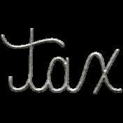 Toolbox Calendar- Metal Word Art- Tax