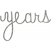 Toolbox Calendar- Metal Word Art- Years