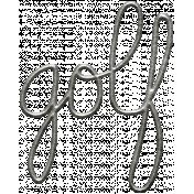 Toolbox Calendar- Metal Word Art- Golf