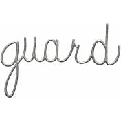 Toolbox Calendar- Metal Word Art- Guard