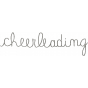 Toolbox Calendar- Metal Word Art- Cheerleading