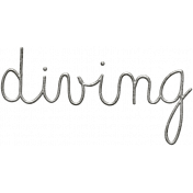 Toolbox Calendar- Metal Word Art- Diving
