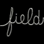 Toolbox Calendar- Metal Word Art- Field