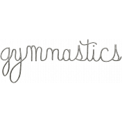 Toolbox Calendar- Metal Word Art- Gymnastics