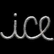 Toolbox Calendar- Metal Word Art- Ice