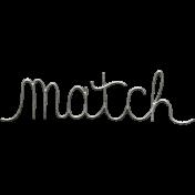 Toolbox Calendar- Metal Word Art- Match