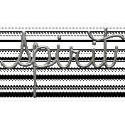 Toolbox Calendar- Metal Word Art- Spirit