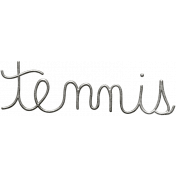 Toolbox Calendar- Metal Word Art- Tennis