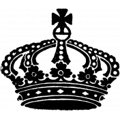 Crown Stamp Template 007