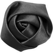 Bad Day- Dark Gray Fabric Flower