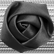 Bad Day- Dark Gray Fabric Flower