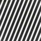 Bad Day- Black and White Diagonal Stripe Paper