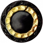 Bad Day- Black Button With Golden Ring
