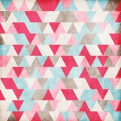 For The Love Of My Girls- Pink & Blue Geometric Paper