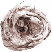 For The Love Of My Girls- Brown Fabric Flower