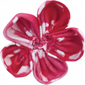 For The Love Of My Girls- Pink Fabric Flower 2