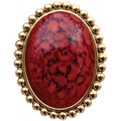 For The Love Of My Girls- Red Brooch