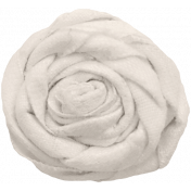 For The Love Of My Girls- White Fabric Flower