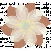 Life In Full Bloom- Painted Brown Flower 1