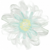 Life In Full Bloom- Painted Green Flower 1