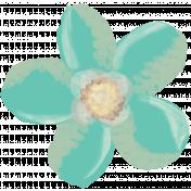 Life In Full Bloom- Painted Teal Flower 2