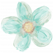 Life In Full Bloom- Painted Teal Flower 2