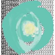 Life In Full Bloom- Painted Teal Flower 1