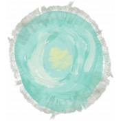 Life In Full Bloom- Painted Teal Flower 3