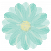Life In Full Bloom- Painted Teal Flower 4