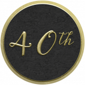 Our Special Day- Anniversary Sticker- 40th