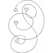 Swirl Doodle Template 015
