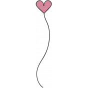 A Mother's Love- Heart Swirl Dooodle 2- Pink And Black
